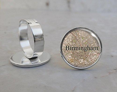 1839 Map (Birmingham 1839 Map Adjustable Ring)