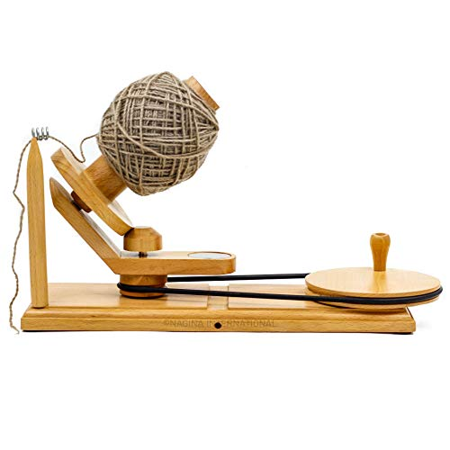 Hand Operated Premium Crafted Knitting & Crochet Ball Winder | Knitter's Gifts Center Pull Ball Winder | Nagina International