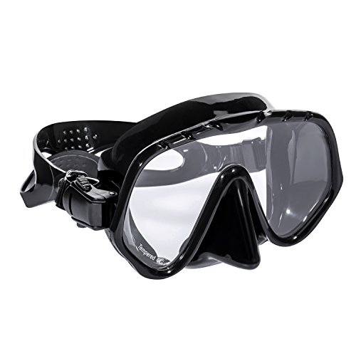 - Speefish Scuba Diving Mask, Adults Dive Mask with silicone skirt and strap for Snorkeling Freediving (Black)