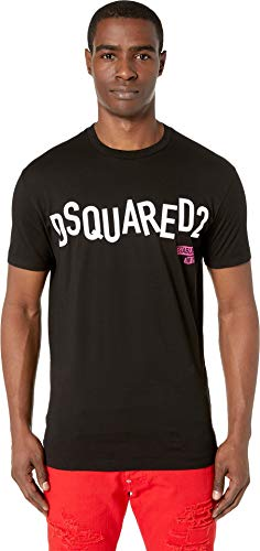 DSQUARED2 Men's Disco Punk Cool Fit T-Shirt Black Large