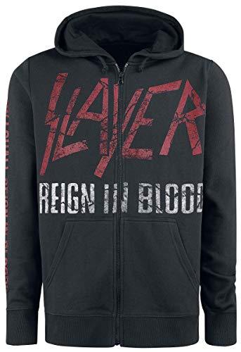 Con Reign Slayer Blood In Cremallera Capucha Negro dZA4IqAx