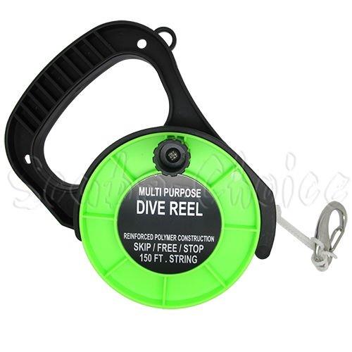 Scuba Choice Scuba Diving Multi Purpose Dive Reel, 150', Green by Scuba Choice