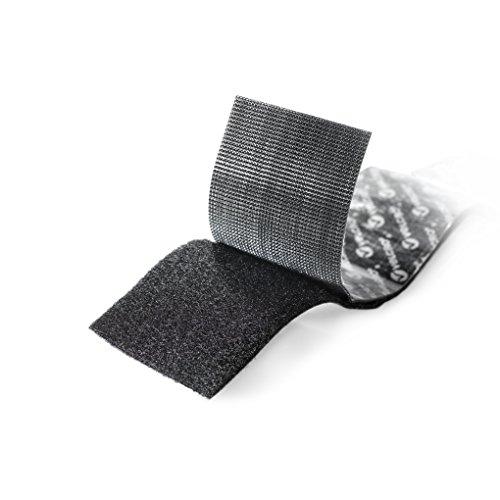 075967901998 - Velcro Industrial Strength Sticky-Back Hook & Loop Fastener 2 PACK TOTAL OF 4 Strips, 4 x 2, Black carousel main 1