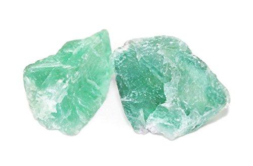 Fluorite Halide Mineral - 2 Unpolished Fluorescent Mineral Specimens