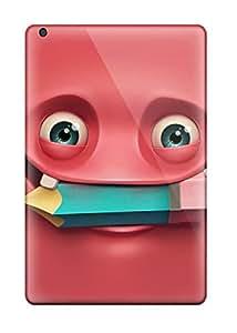 New Arrival Ipad Mini/mini 2 Case Happy Red Smiling Face Case Cover