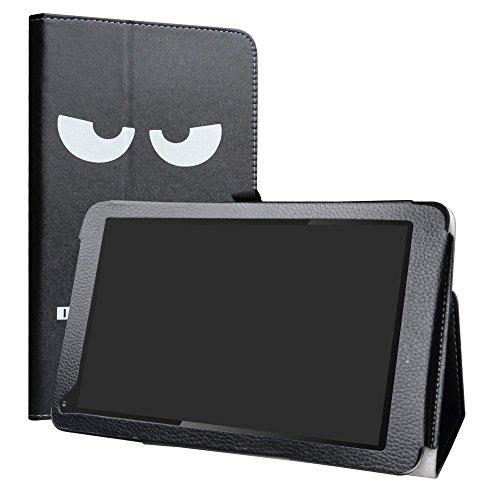 Dragon Touch V10 Case,LiuShan PU Leather Slim Folding Stand Cover for Dragon Touch V10 10-Inch Android Tablet,Don't Touch (Dragon Touch Tablet Cover)