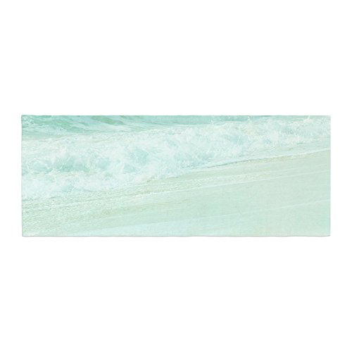 KESS InHouse Monika Strigel Paradise Beach Mint Teal Green Bed Runner