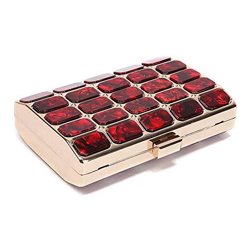 Colore per Borsa da serale pratico Rosso Pacchetto sera Yzibei signora Rosso cheongsam ZwxqF6YYz