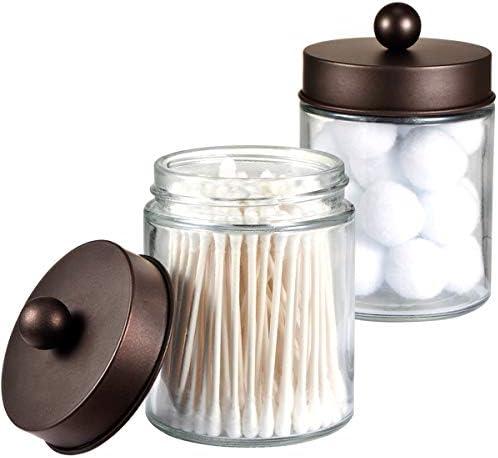 Apothecary Jars Bathroom Storage Organizer
