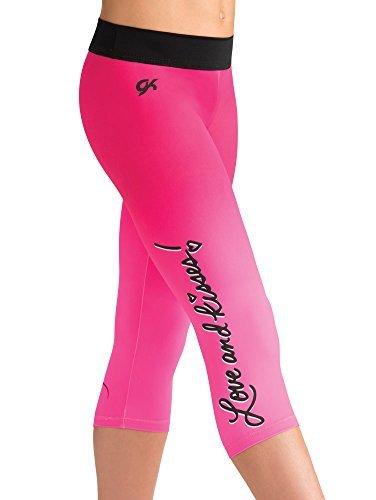 Disney Pretty Minnie Capri Leggings for Gymnastics Dance Cheer - Adult Large by ()