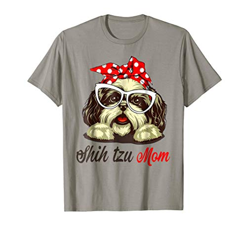 Shih Tzu Mom T-Shirt Gift For Women ()
