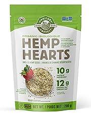 Manitoba Harvest Organic Hemp Hearts Shelled Hemp Seeds, 200g; 10g Plant-Based Protein & 12g Omegas per Serving, Whole 30 Approved, Vegan, Keto, Paleo, Non-GMO, Gluten Free