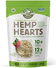 Manitoba Harvest Organic Hemp Hearts Shelled Hemp Seeds, 200g; 10g Plant-Based Protein & 12g Omegas per Se