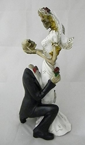 Wedding Party Reception Cake Topper Day of the Dead Skeleton Gothic