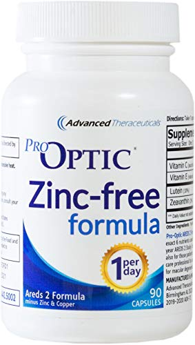 Pro-Optic AREDS 2 (ZINC-Free) Formula (3 Month Supply) 1-Per-Day/Veggie Caps ()