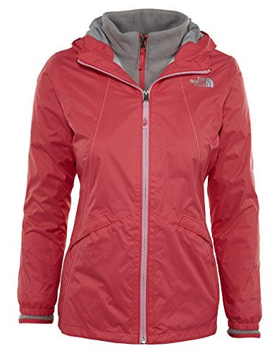 The North Face Girls' Stormy Rain Triclimate Jacket Honeysuckle Pink XL by The North Face