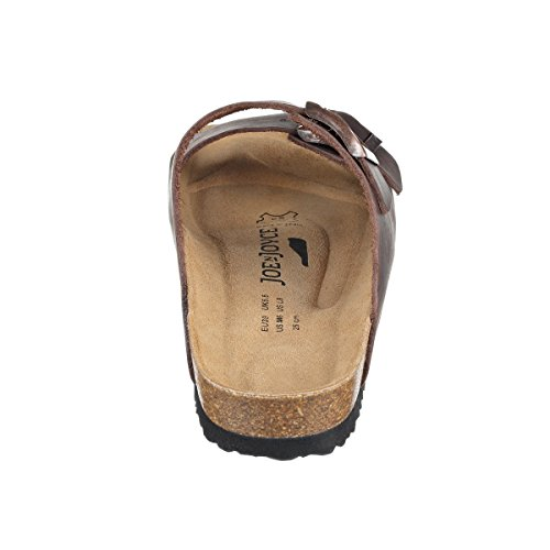 JOE N JOYCE London Synsoft Soft-Fußbett Damen Sandalen, Braun (Darkbrown), 40 EU-Normal