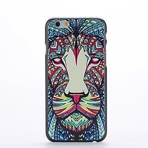 ZMY animales patrón de diseño de león de plástico duro de la contraportada para el iPhone 6 Plus
