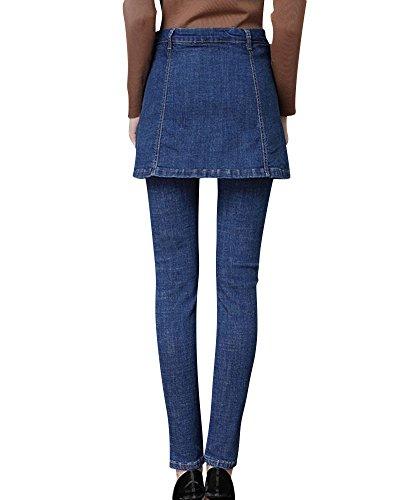 Blu Vita Skinny Donna Alta Delle Marino Jeans Strappati Pantaloni XnBqxqv0f