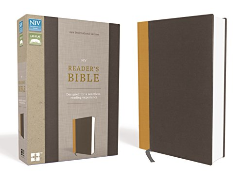 NIV, Reader's Bible, Cloth over Board, Gold/Gray: Designed for a Seamless Reading Experience (Single Four Column)