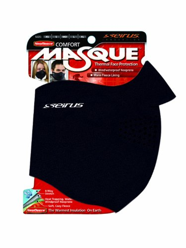 Seirus Innovation 6810 Neofleece Comfort Masque - Winter Cold Weather Face Protection, Black, Medium