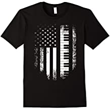 Vintage USA Red White - Piano American Flag T-shirt
