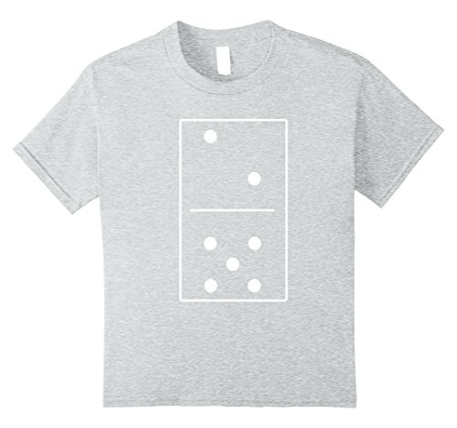 Girl Costume Nerd Pants (Kids Unisex Domino Costume Alternative T-Shirt Tee 10 Heather)