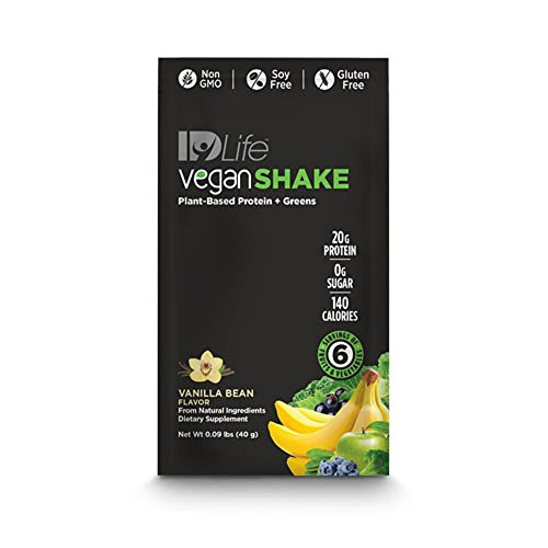 IDLife Meal Replacement & Weight Loss Protein Shakes - Vegan (Plant Based Protein & Greens) - Vanilla Bean Flavor - 10 Individual Packets for Travel (Shake Meal Idlife Replacement)