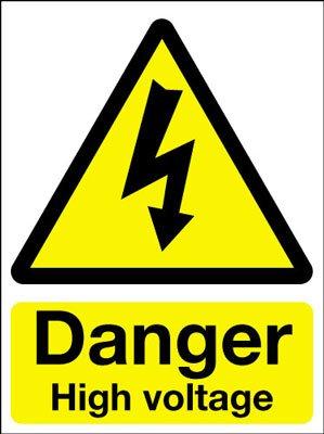 Hazard Warning Safety Signs - Danger High Voltage: Amazon.co.uk ...