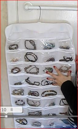 Perfect Life Ideas Hanging Jewelry Organizer 72 Clear Pockets Find