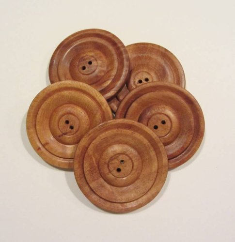 Subabul Wood 2 inch Round Buttons