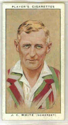 John White 1934 Player Cigarettes Cricketers 1934 #33 (VG) (John Player Cigarettes)