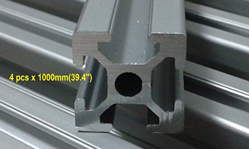 T-Slot Aluminum Extrusion 2020 for delta 3d printer 4pcs x 1000mm