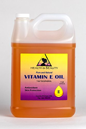 Tocopherol T-50 Vitamin E Oil Anti Aging Natural Premium Pure 128 oz, 7 LB, 1 gal