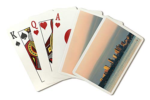 (Bellevue from Lake Washington Photography A-91367 (Playing Card Deck - 52 Card Poker Size with Jokers))