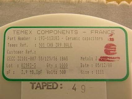 Amazon.com: 1000 temex Hi-Q 3.9PF 500 V cerámica microondas ...