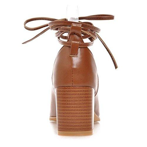 Sandales Brown Ete Chaussures Lacets Bottes Femmes VulusValas qFwvAfH