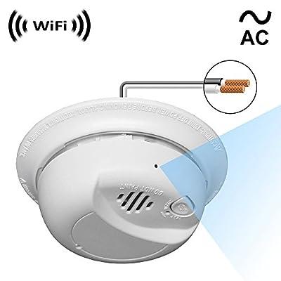 SpyGear-Spy Camera with WiFi Digital IP Signal, Recording & Remote Internet Access, Camera Hidden in a Residential Smoke Detector - SCS Enterprises