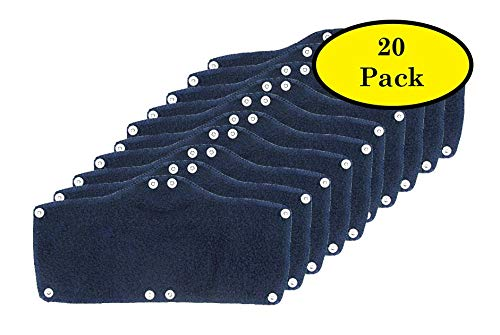 20 Pack Best Hard Hat Sweatband Navy Blue Washable Snap On Sweat Band Liner Safety Accessories by ACERPAL