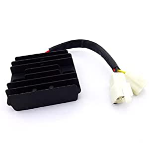 amazon com xljoy 6 wire 12v dc voltage regulator rectifier for gy6 rh amazon com