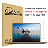 Orzero for Lenovo Yoga 720 13.3 inch (NOT FIT for Yoga 730 and Yoga 720's 15.6 inch and 13 inch Version) Tempered Glass Screen Protector, Bubble-Free 9 Hardness HD [Lifetime Replacement Warranty]