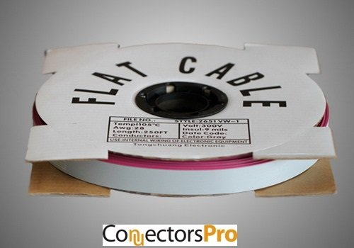 Pc Accessories - Connectors Pro 100 Feet Spool 1.27mm 20P IDC Flat Ribbon Cable for 2.54 mm Connectors, 20 Wires, 20C