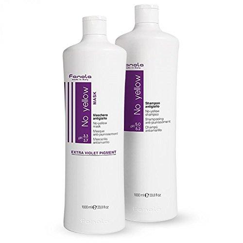 (Fanola No Yellow Shampoo & Mask, 1000 ml)