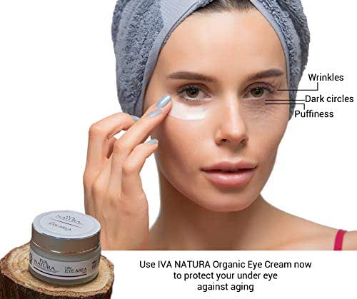 Iva Natura  Eye Cream For Dark Circles, Puffiness, Wrinkles and Bags - the Most Effective Organic and Natural For Under and Around Eyes