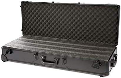 ライフルケース、とホイール付きのドライボックス、持ち運びが簡単