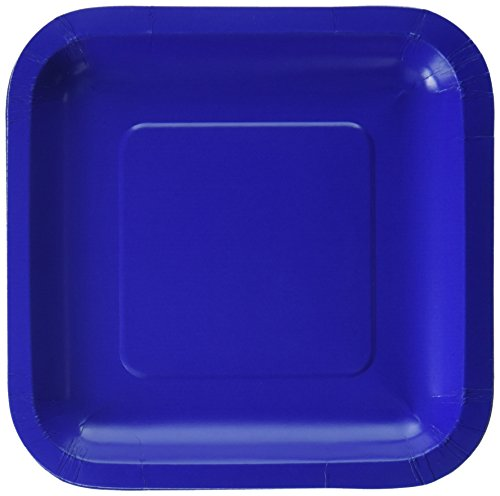 - Creative Converting 453147 18 Count Touch of Color Square Lunch Plate, 7.25