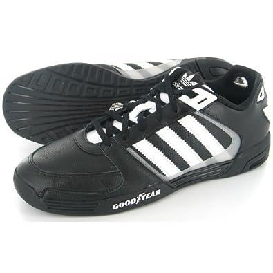 Equipo De Adidas Goodyear De Cuero Blanco y Negro Zapatillas
