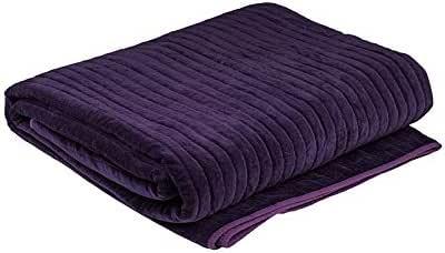 Bambury Cotton Velvet Blanket, Plum