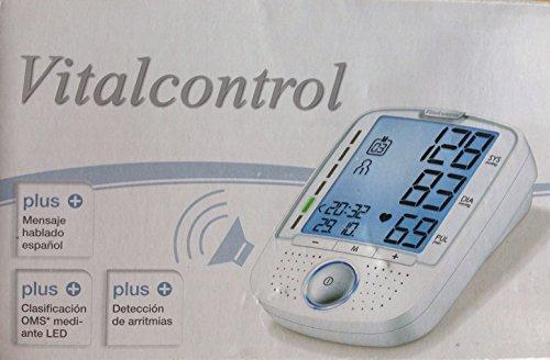 TENSIOMETRO DE BRAZO CON VOZ VITALCONTROL SBM 52 PANTALLA XL MENSAJE HABLADO EN ESPAÑOL: Amazon.es: Salud y cuidado personal