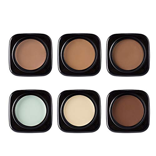 Decrease Eye Shadow Base - 7Pcs Concealer Foundation Highlight Cream Smooth Light Whitening Isolation Waterproof Long-lasting Natual Face Makeup Cream (B)
